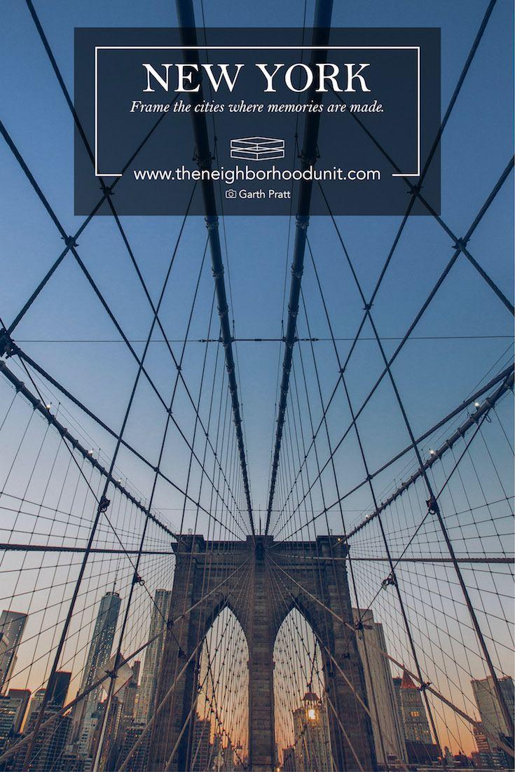 New York city map prints New York