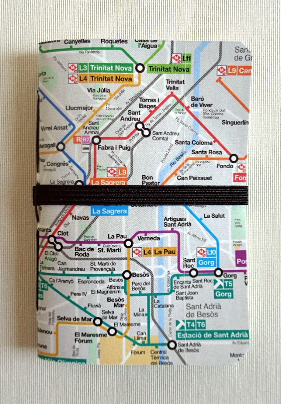 Pau Map%0A handmade notebooks by cecibook www espaibuenrollo info