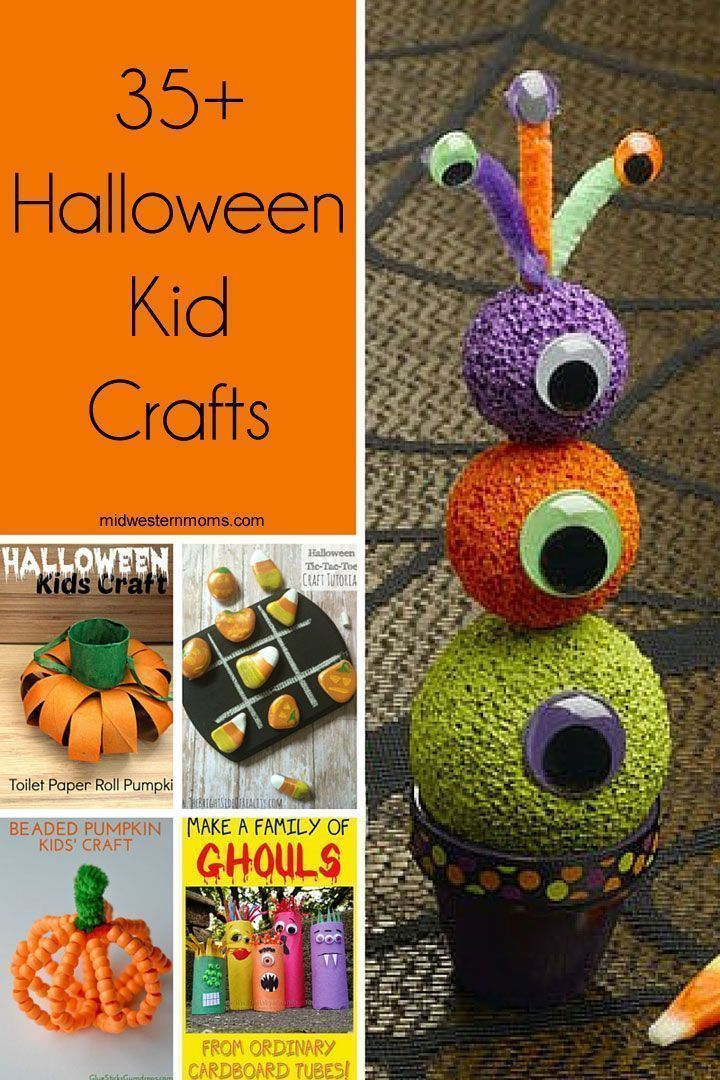 35+ Halloween Kid Crafts Halloween kids, Craft and Halloween ideas - halloween kids craft ideas