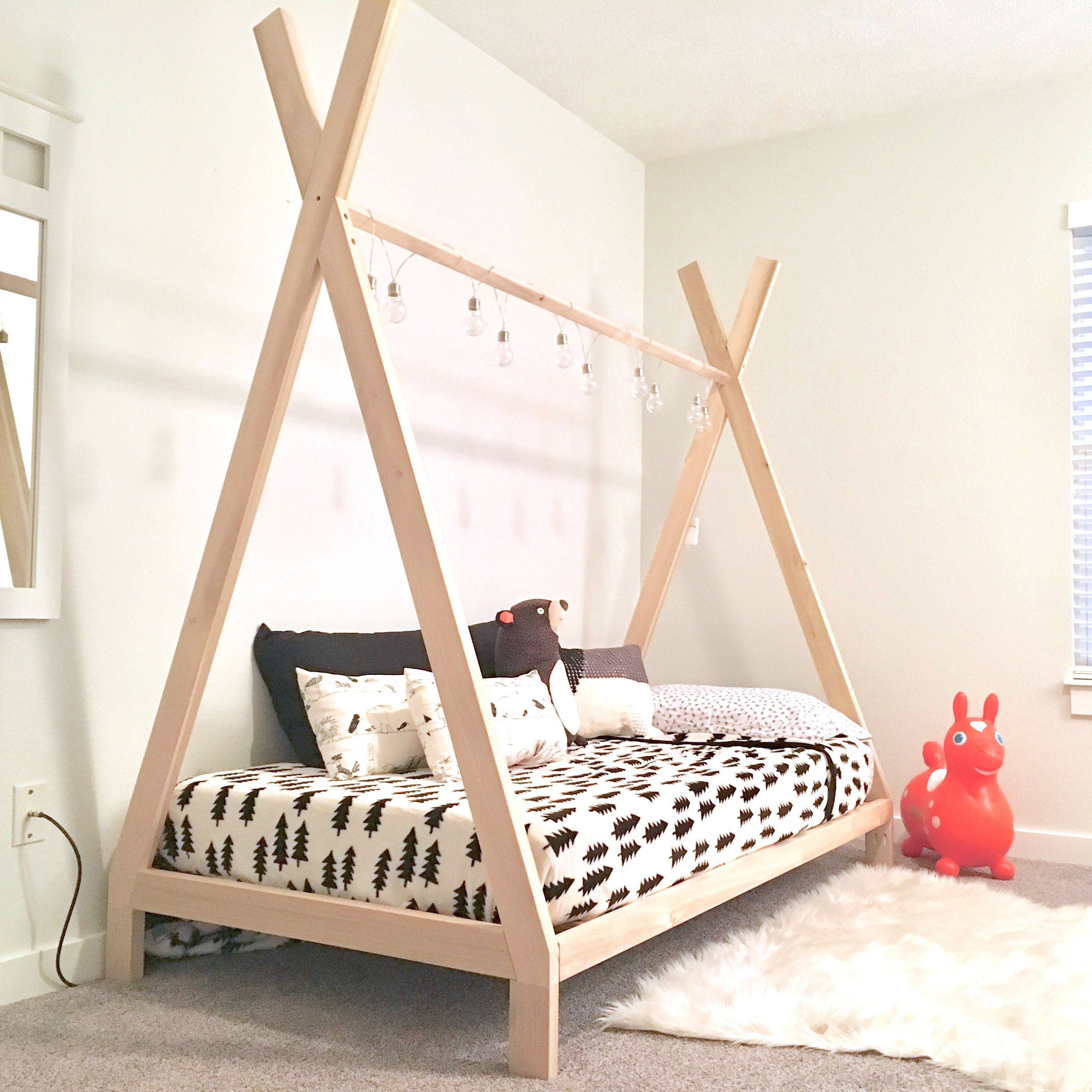 Teepee Bed Frame Twin Size Made In Us Etsy Twin Bed Frame