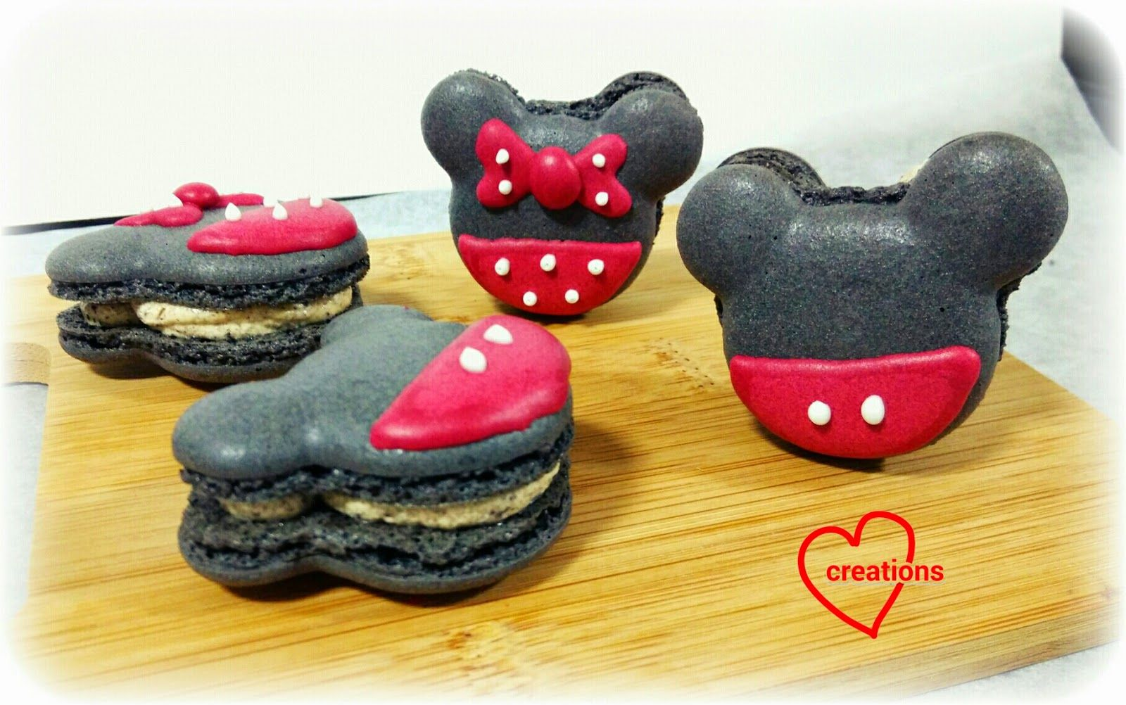 Loving Creations for You: Mickey and Minnie Mouse Oreo Cookies N Cream Macarons