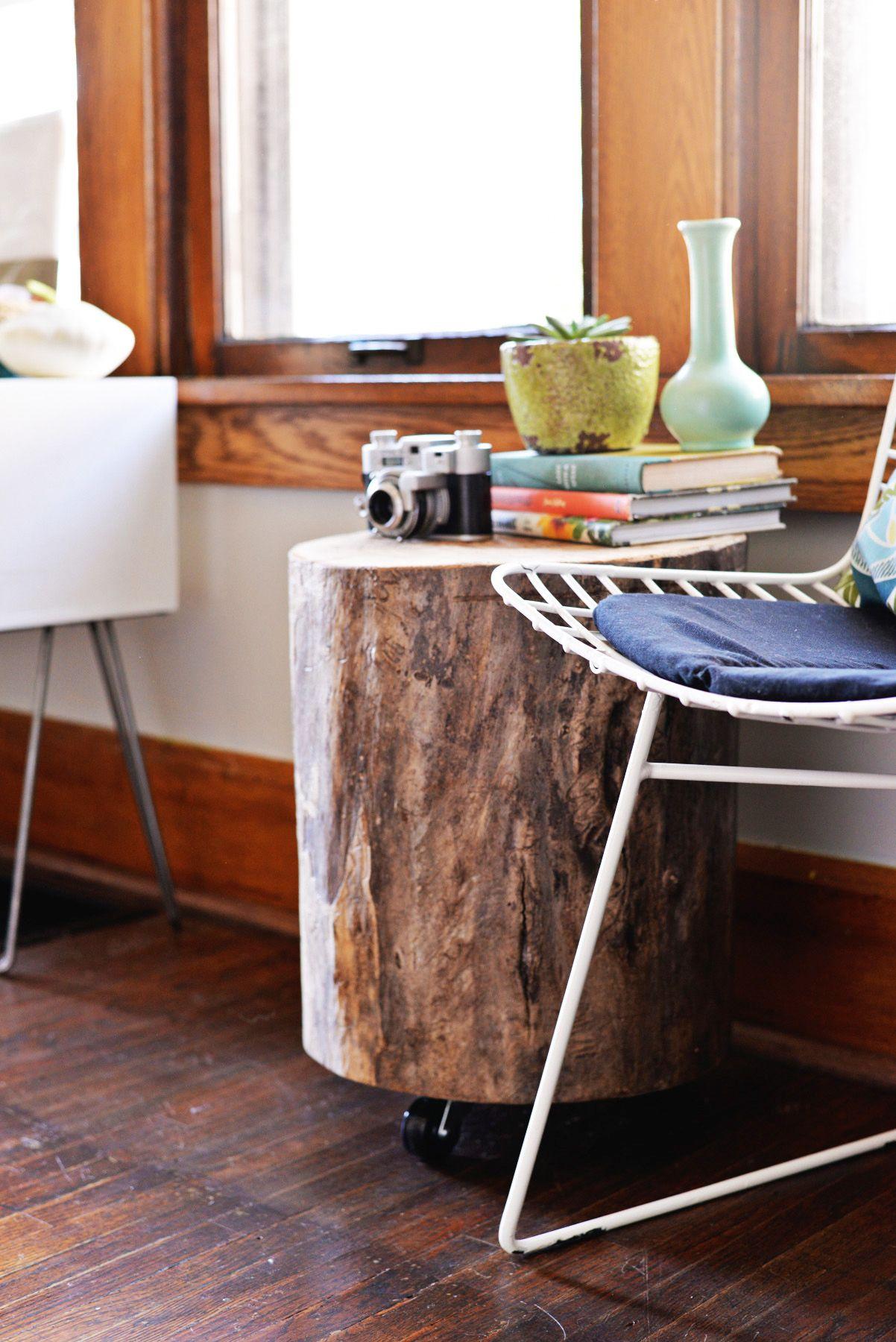 diy tree stump side table ev tree stump side table diy end rh pinterest com