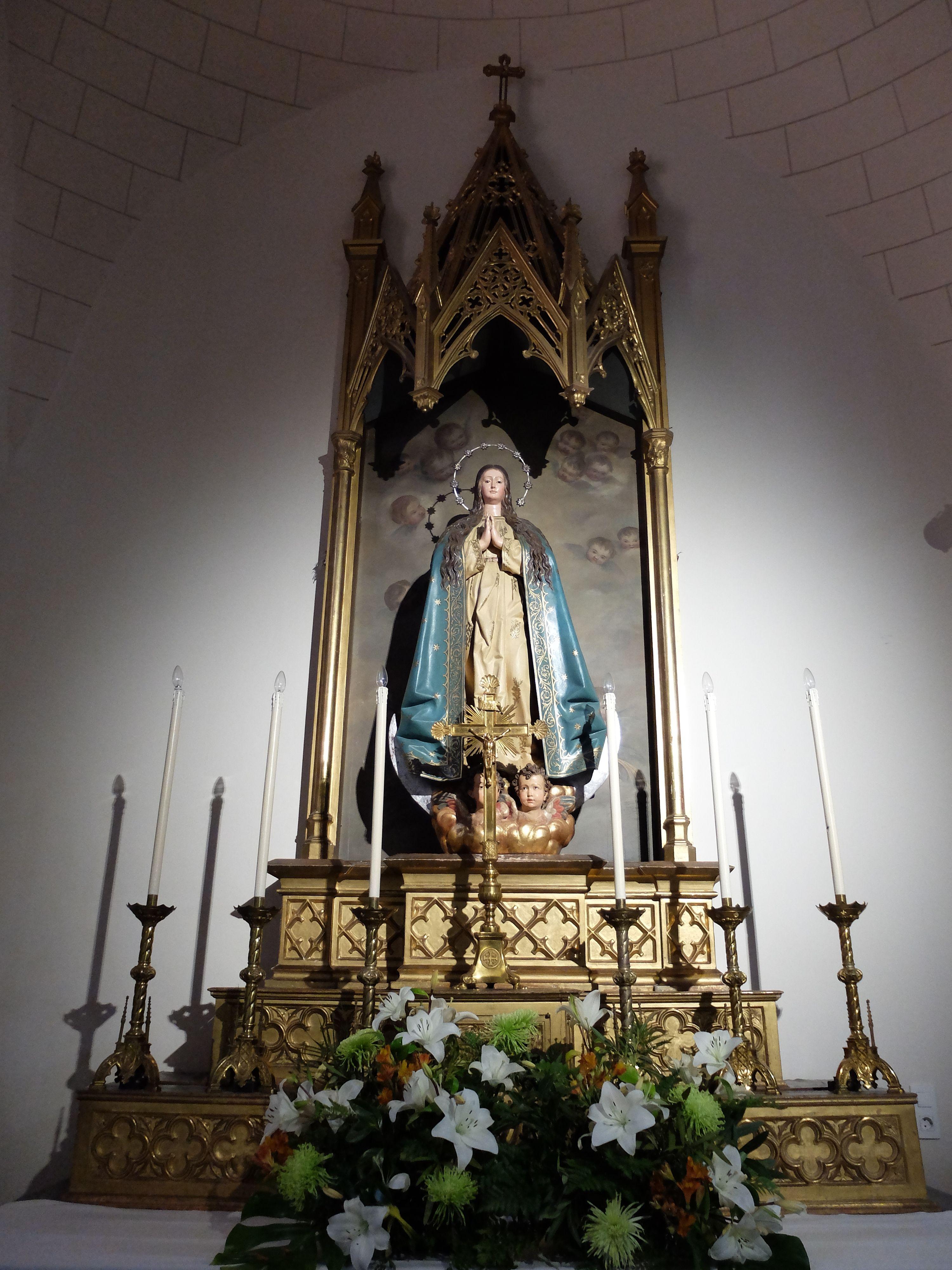 Capilla de la Inmaculada Concepción. Retablo e imagen de la titular