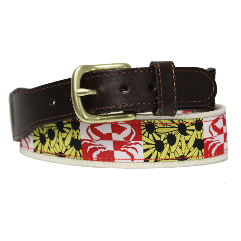 Crabby Susan Maryland Belt Belt Brass Buckle Maryland