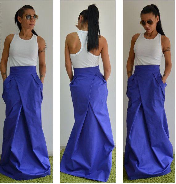 Long Skirt, High Waisted Skirt, Maxi Skirt, Skirt With Pockets, Skirt, Wedding Skirt, Boho Skirt, Maxi dress
