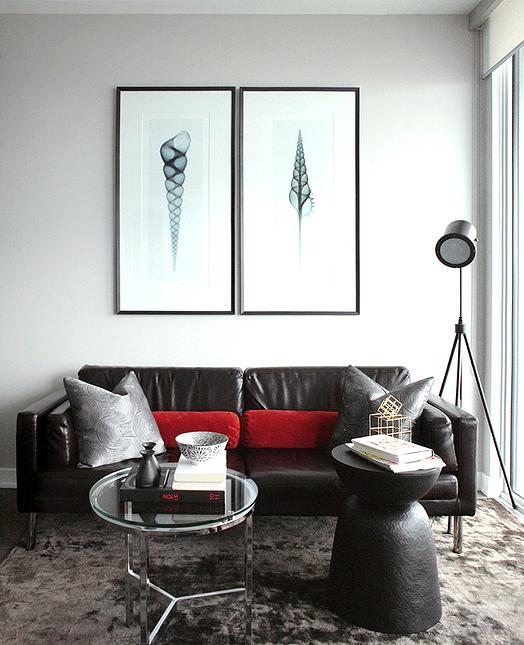 contemporary living room earthy gray walls dark chocolate leather rh pinterest com