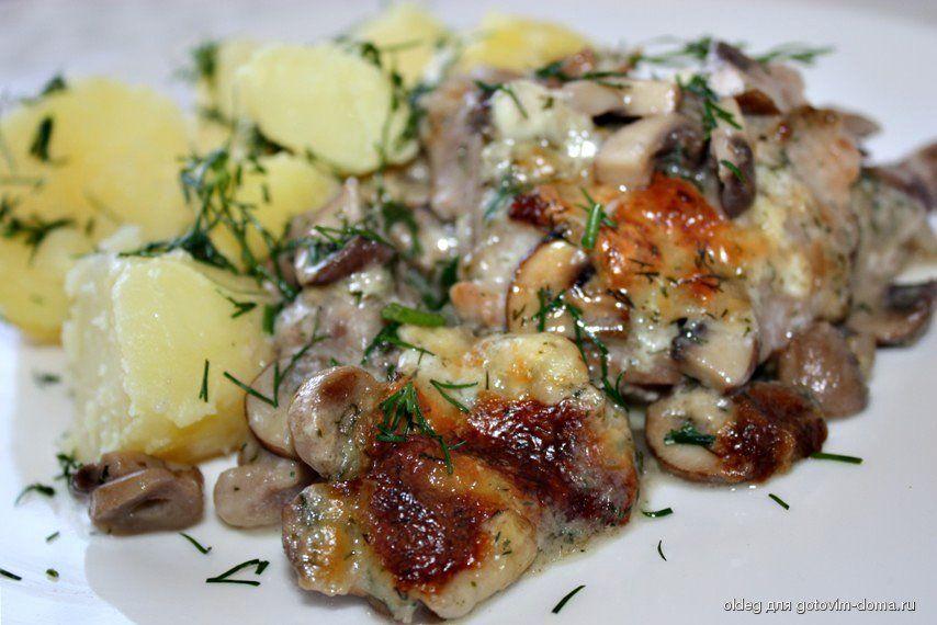 рецепт из свинины с грибами рецепт с фото пошагово