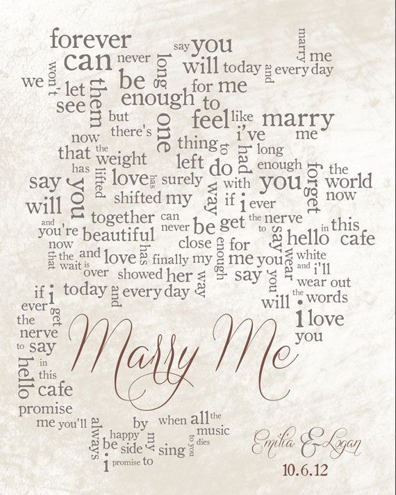 Personalized Word Art Wedding Song Lyrics By Lildreamercreative 40 00