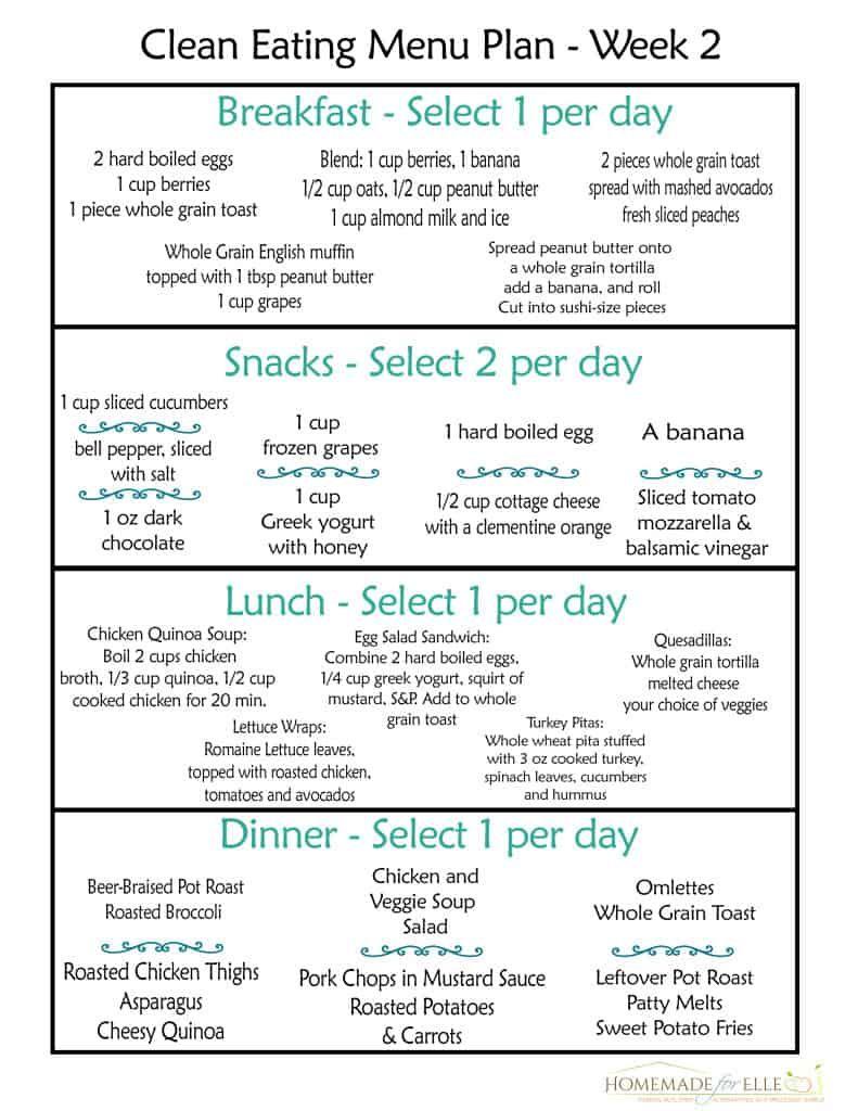 Clean Eating Meal Plan {100% Free - Includes Breakfast, Lunch, Dinner & Snacks!}