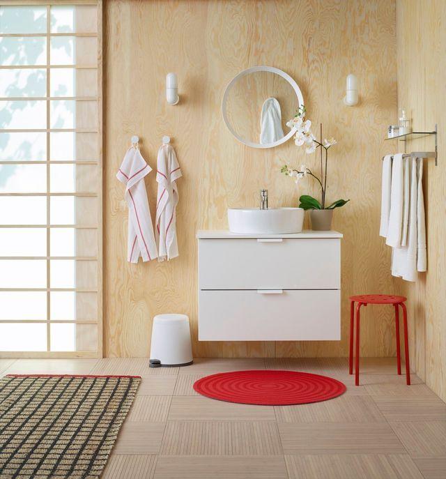 Meuble salle bain bois, design, Ikea, Lapeyre Decoration
