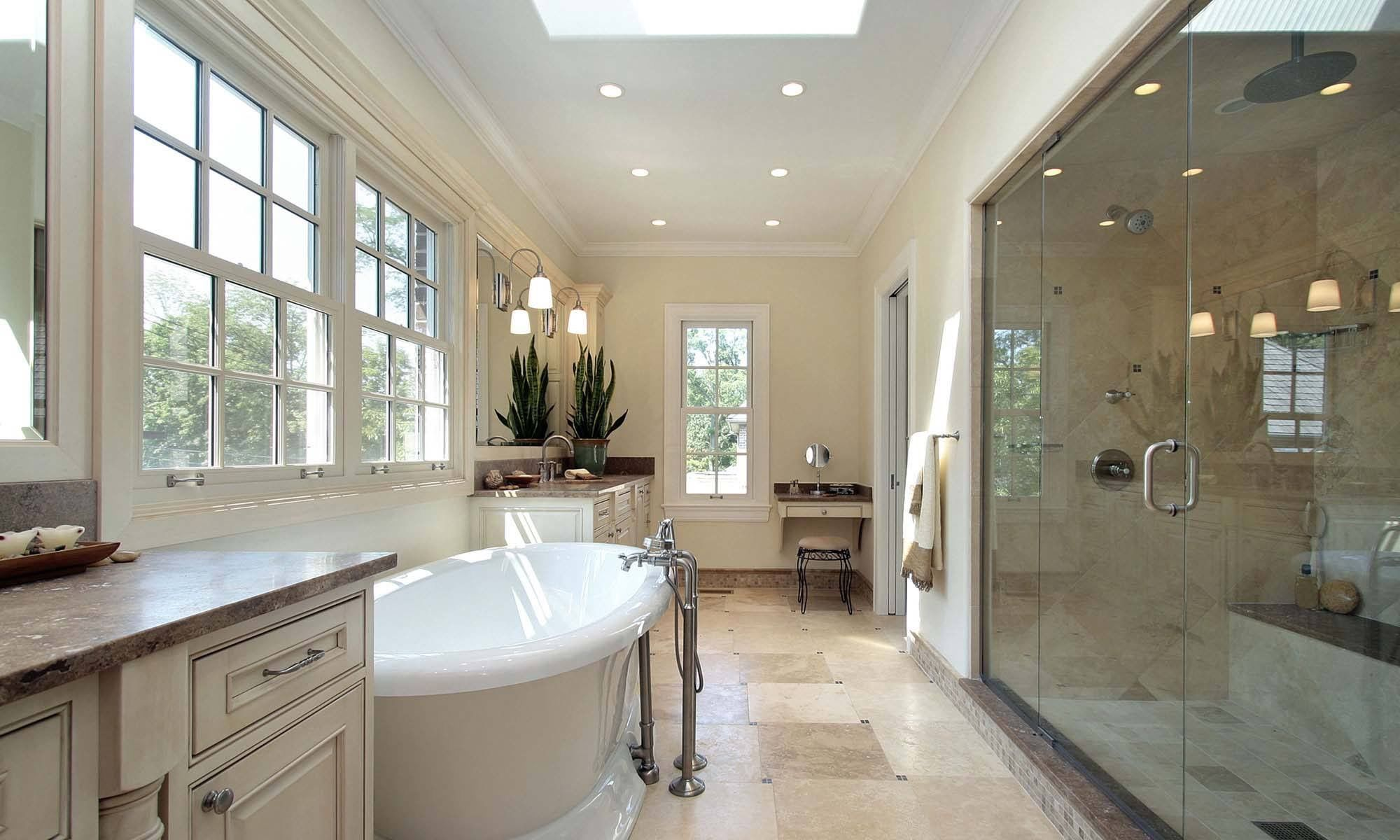 photos of remodeled bathrooms%0A View this Great Contemporary Master Bathroom with Skylight  u     Inset cabinets  by Home Stratosphere  Discover  u     browse thousands of other home design  ideas on