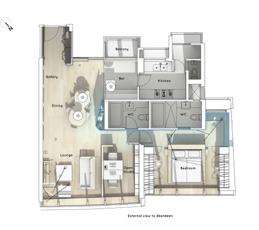 Boathouse Home Office Bean Buro House Boat Interior Design Awards Home Office Design