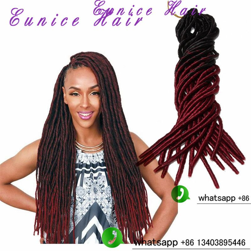 Eunice Faux Locs Crochet Hair 20 Inch Freetress