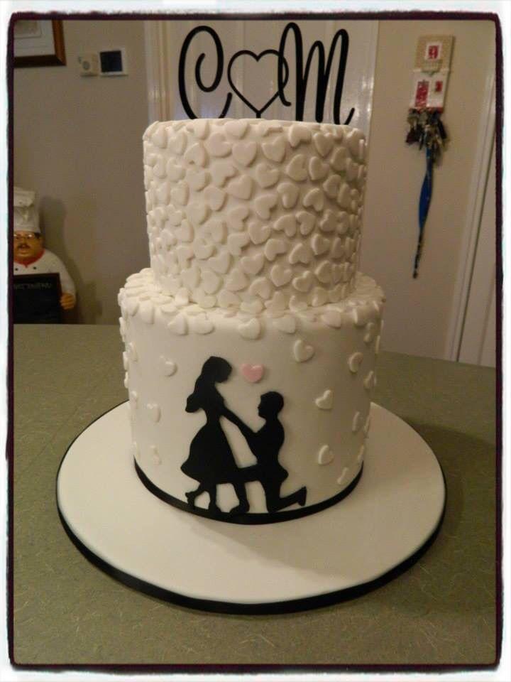 Engagement Cake On Bended Knee Little Bites Cakes