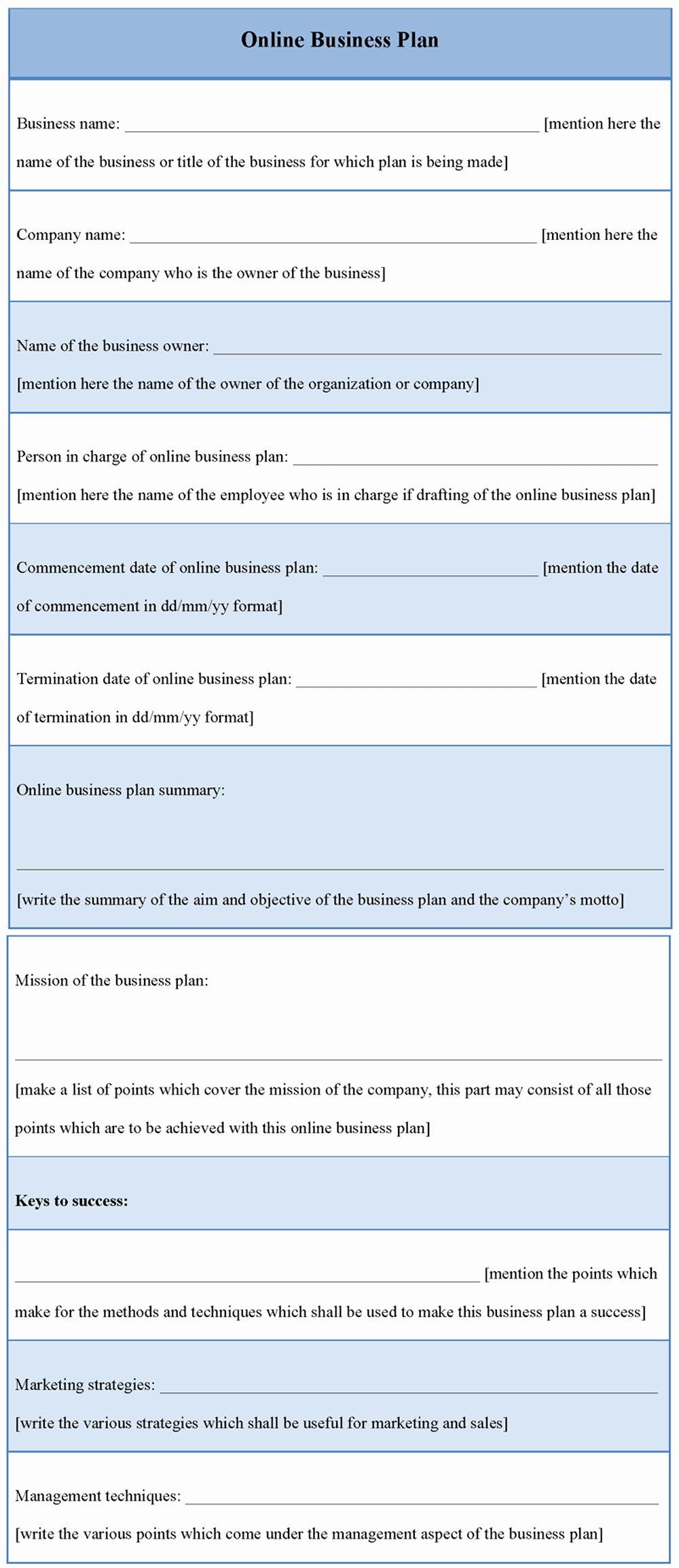 Marketing Business Plan Template Unique 41 Business Plan Templates E