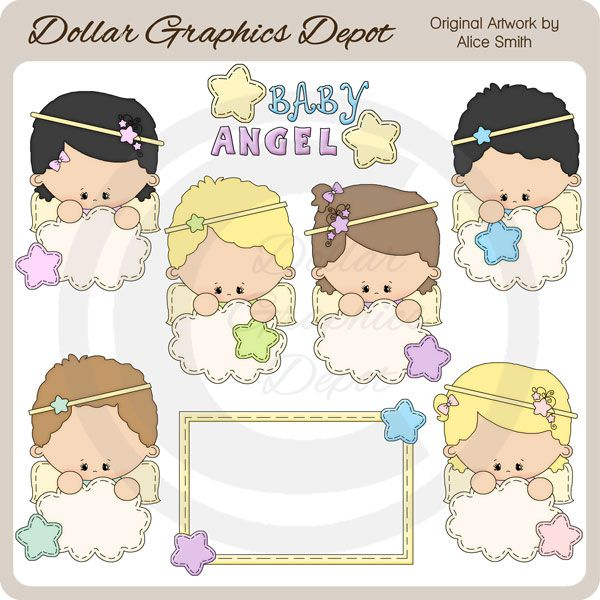 Baby Angel - Clip Art - $1.00 : Dollar Graphics Depot, Quality Graphics ~ Discount Prices
