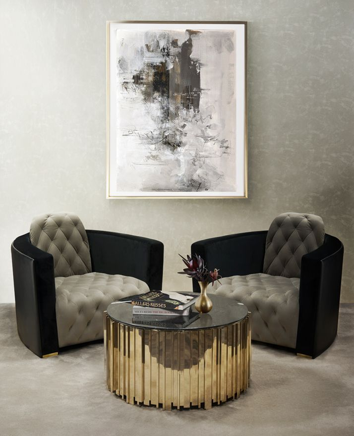 latest sofa designs for living room%0A It is carefully made in brass and nero marquina marble  This is a perfect  combination between the classic and modern design