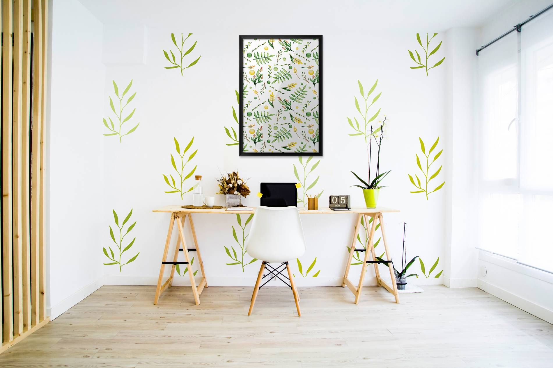 Twigs and herbs Contemporary Wall Murals Posters Nature