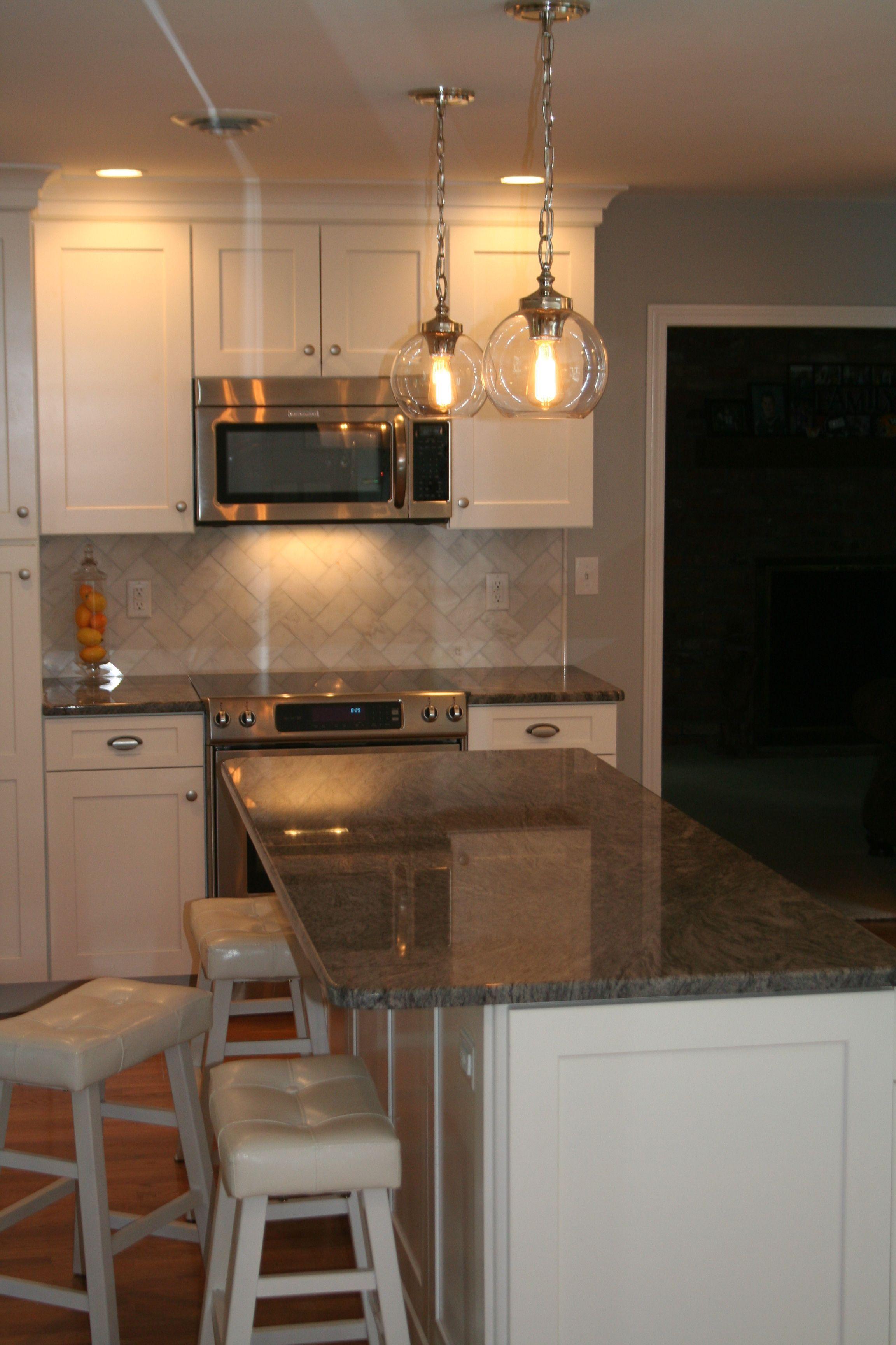 white kitchen cabinet, Buffet Cabinetry, Granite ...