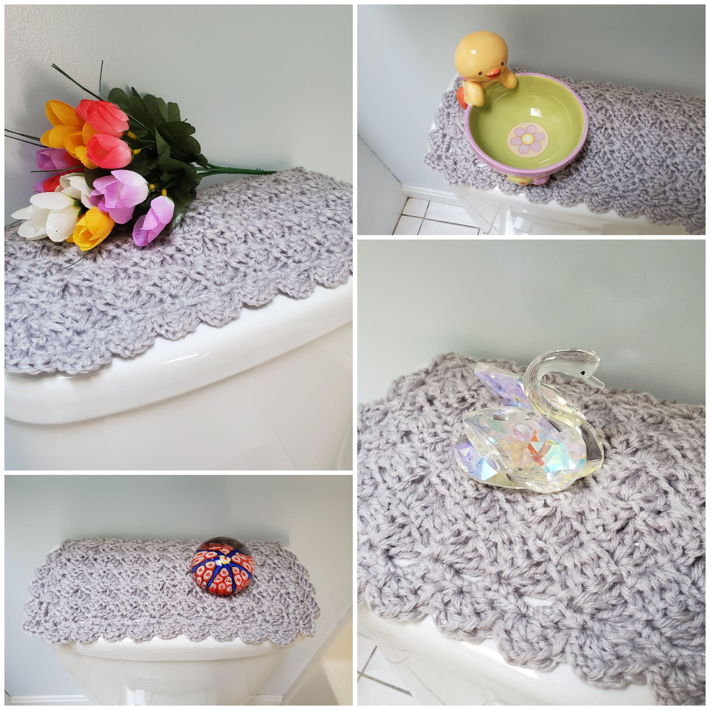 Toilet Tank Topper Crochet Toilet Tank Topper Bathroom Decor Micro Chip Ttt1k With Images Toilet Tank Bathroom Decor Crafts To Make And Sell