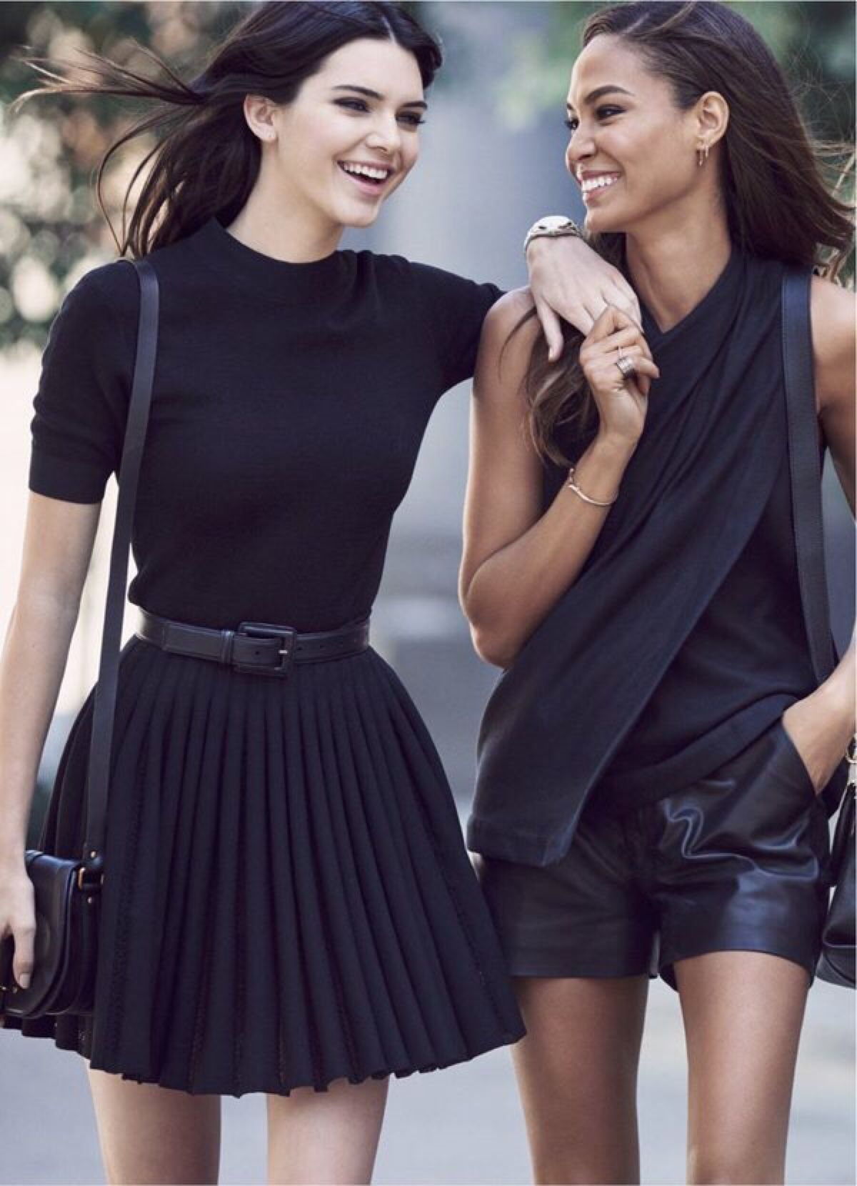 "kard4shians-and-jenners: ""Kendall Jenner and Joan Smalls for Estée Lauder's Double Wear Foundation Campaign """