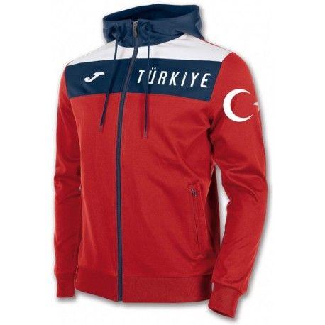 Veste de Survetement Turquie 2017 2018 Capuche Officielle.  11c31ba9dd7