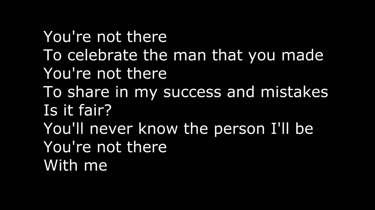 Lukas Graham You're Not There Lyrics on Screen | karaoke lyrics ...