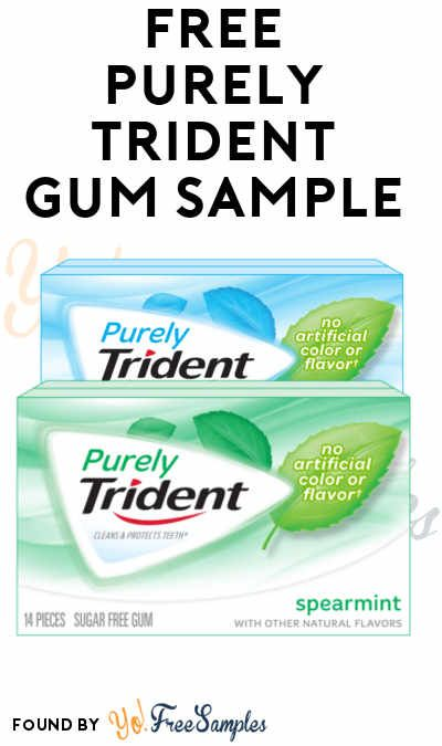 Free gum samples by mail
