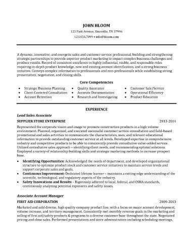 Sales Associate Resume Sample resume Pinterest Customer - sample resume microsoft word