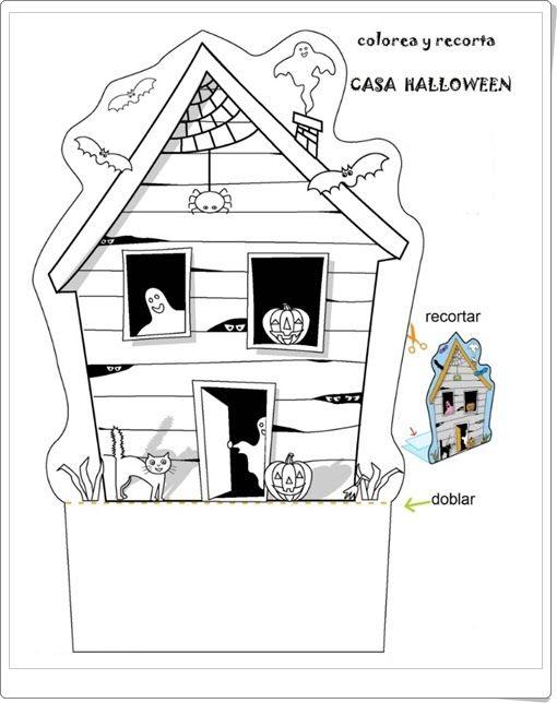 Casa De Halloween Para Colorear Y Recortar Orientacionandujar Es Halloween Para Colorear Actividades De Halloween Casa Halloween
