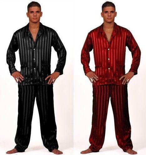 66217d9337bc Mens Silk Satin Pajamas Set Pajama Pyjamas PJS Set Sleepwear Loungewear  U.S.S