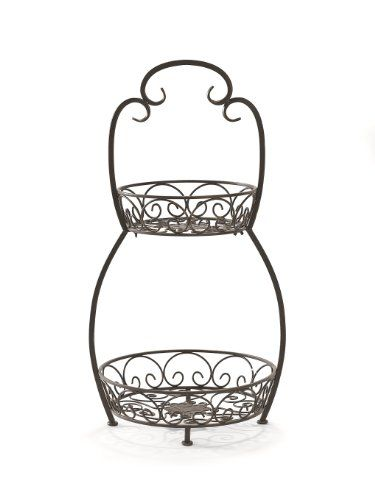 Caffco International Biltmore Inspirations Collection Courtyard 2 Tier Serving Stand Tiered Stand Serving Stand Display Stand