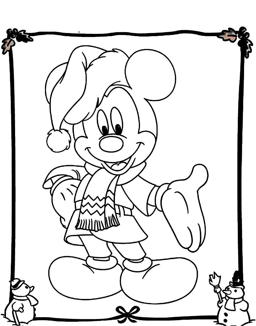 Uncategorized Disney Christmas Coloring Page mickey mouse christmas coloring pages mouse