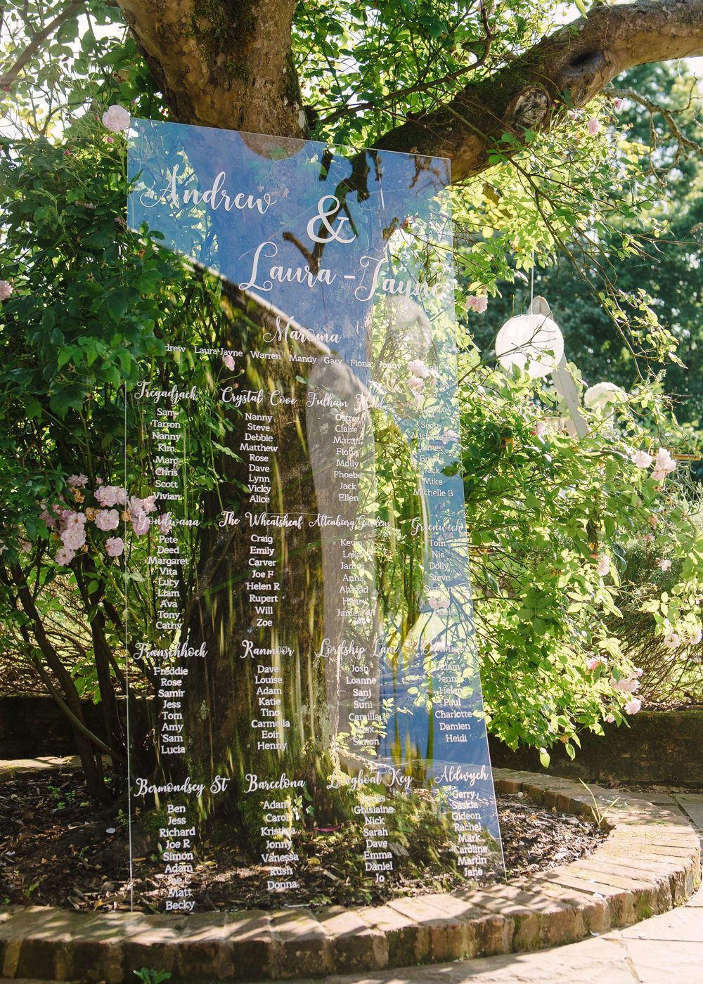 perspex signs for a classic pink white wedding at northbrook park rh pinterest com