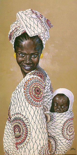 Dessin de christophe novel femme africaine - Africaine dessin ...