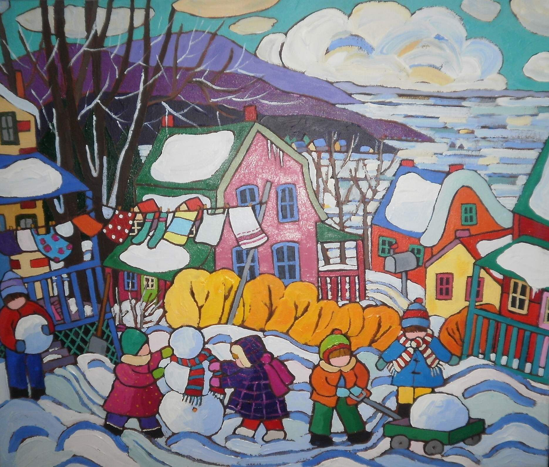 'the snow is so delightful!' selected for 2012 children's wish holiday card