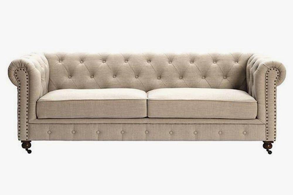 charcoal gray quentin chesterfield sofa sofa chesterfield sofa rh pinterest com