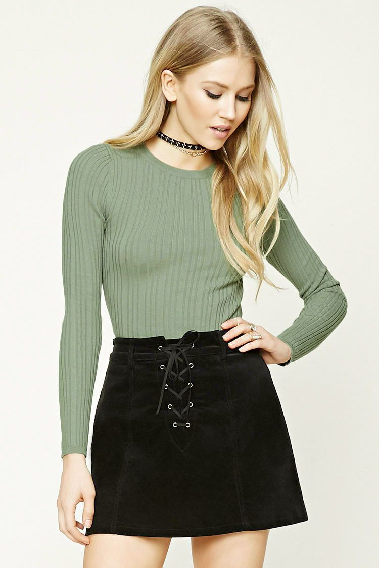 Ribbed+Knit+Sweater