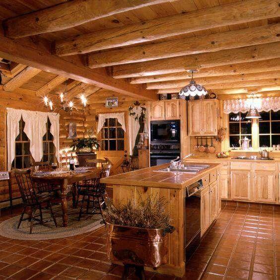 pin by heidi magann on home ideas that i love log home kitchens rh pinterest com