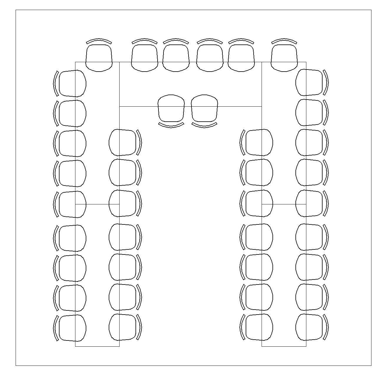 U Shaped Seating Chart 36 Seats Purple Glam Wedding