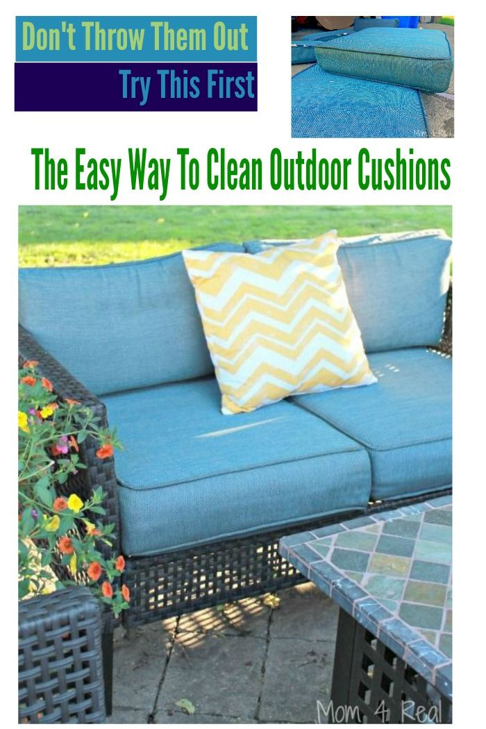 The Easy Way To Clean Outdoor Cushions Diy Projects Pinterest