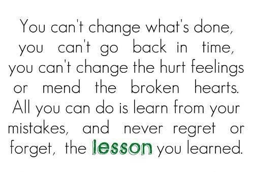 I have finally learnt to let go. Let go, move on, live in the now - and be happy :)