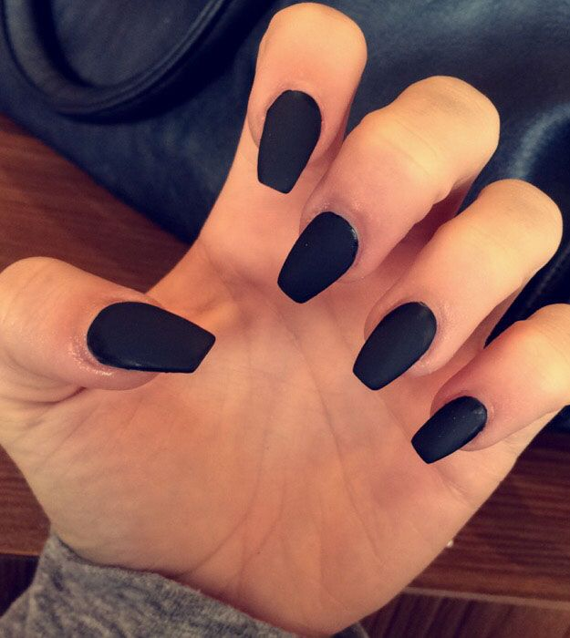 Most popular coffin nail designs to try yourself coffin nails black matte most popular coffin nail designs to try yourself coffin nails solutioingenieria Gallery