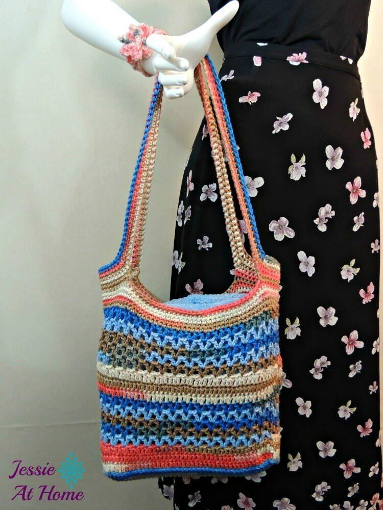 Coastal Beach Bag Free Crochet Pattern Jessie At Home 1 Crochet