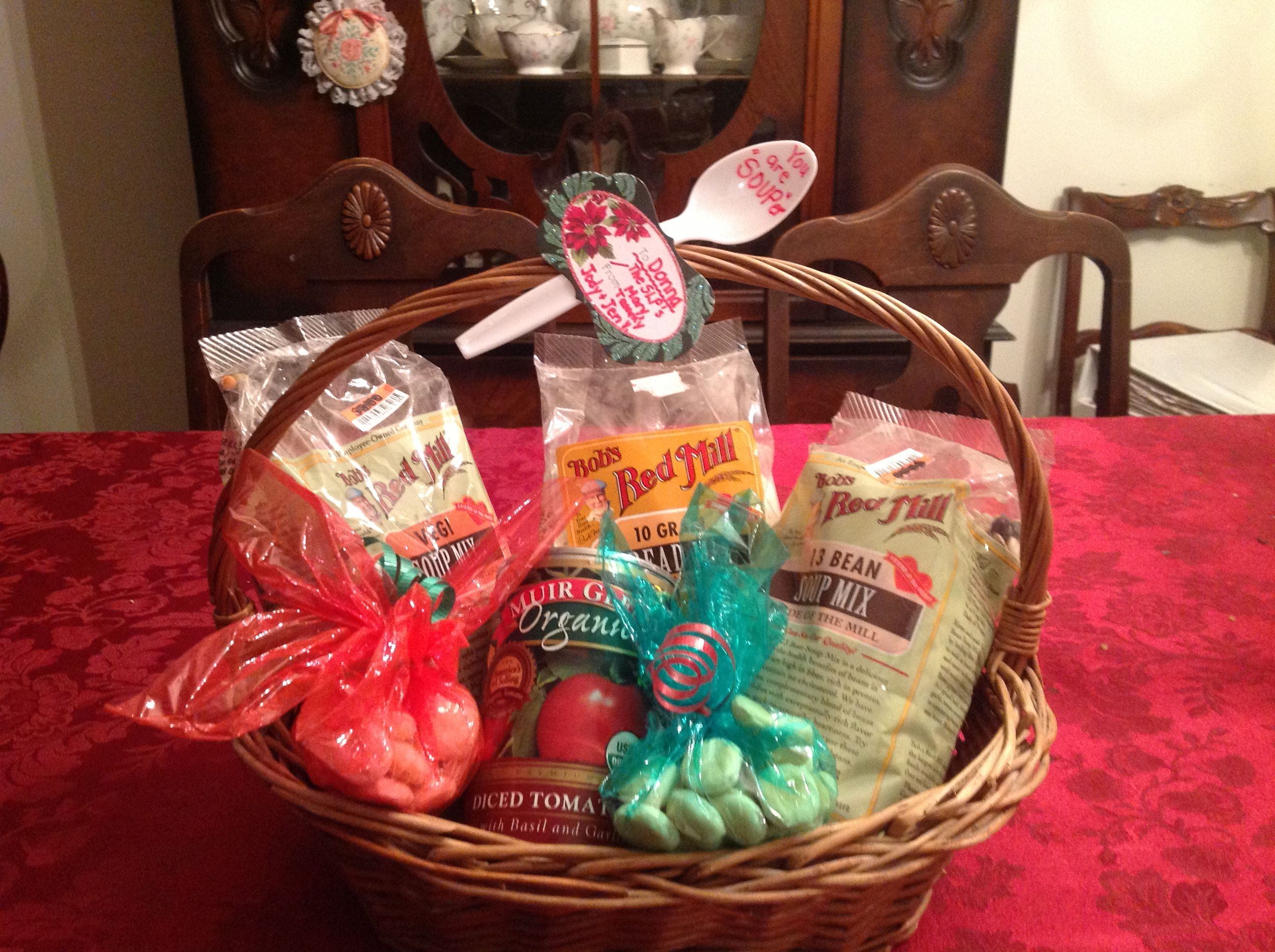 """Bob's Red Mill Gift basket """"Have a SOUPer Merry Christmas"""