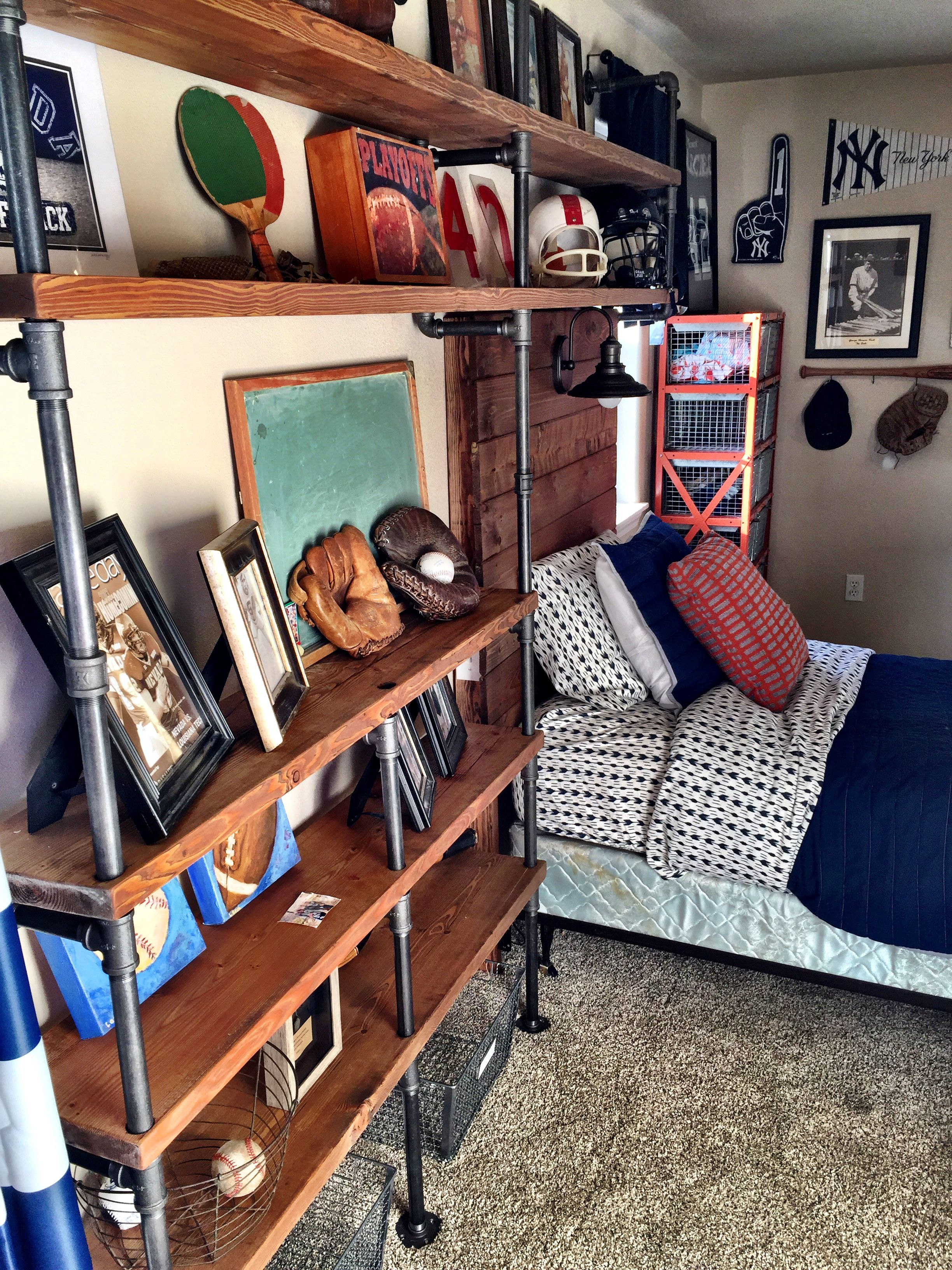 Vintage Sports Themed Bedroom - Lady\'s Little Loves | Vintage Sports ...