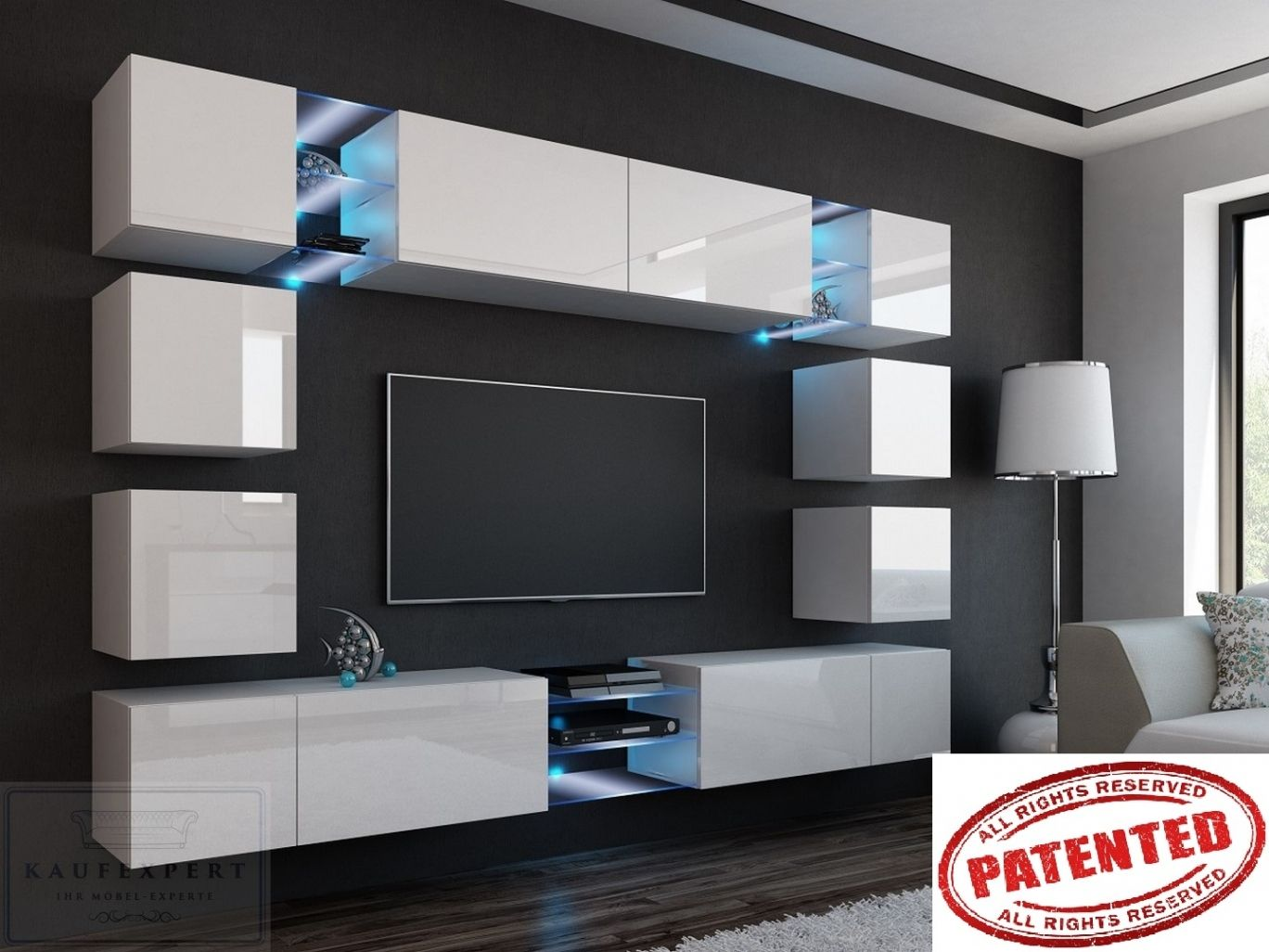 Elegant Neu Wohnwand Modern Ebay