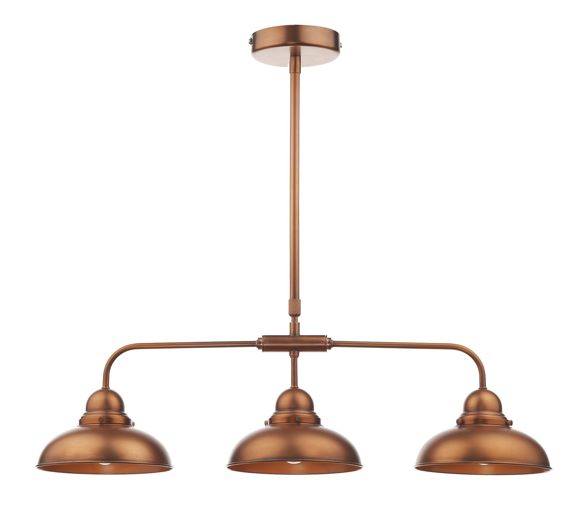 dynamo 3 light bar pendant antique copper class 2 double insulated