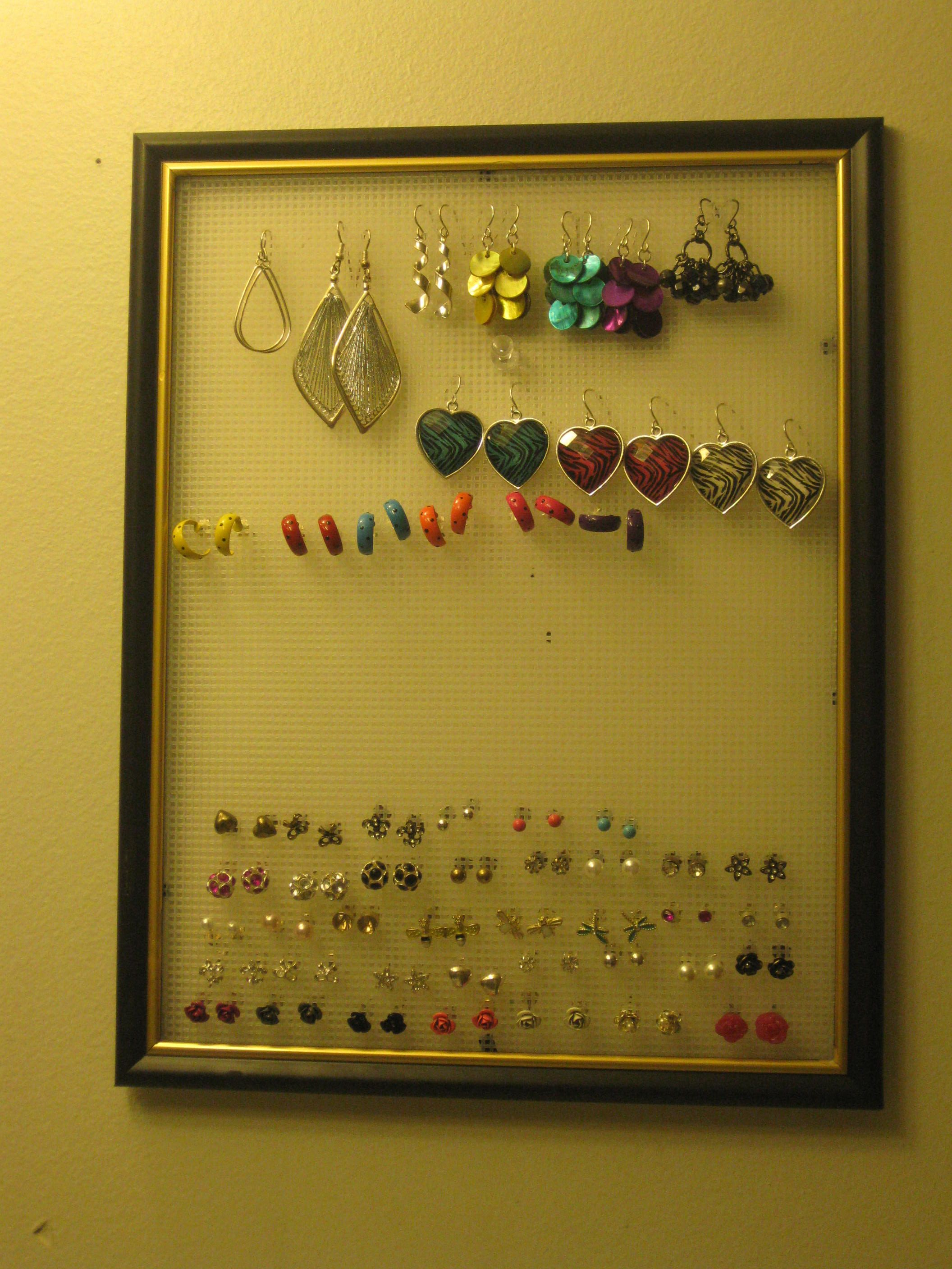 Earring Holder Made Out Of A 99 Cent Piece Of
