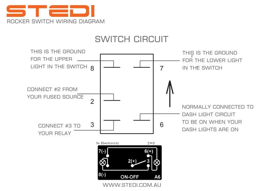 rocker switch diagram